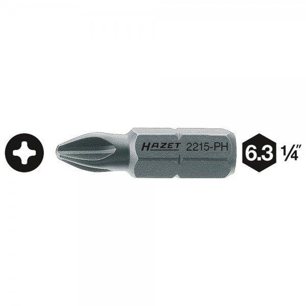 Hazet Bit 2215-PH3 - Sechskant massiv 6,3 (1/4 Zoll) - Kreuzschlitz Profil PH -