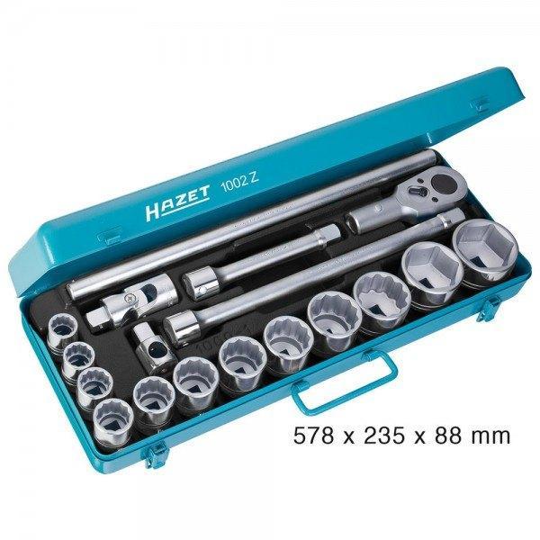 Hazet Steckschlüssel-Satz 1002Z - Vierkant hohl 20 mm (3/4 Zoll) - Anzahl Werkz
