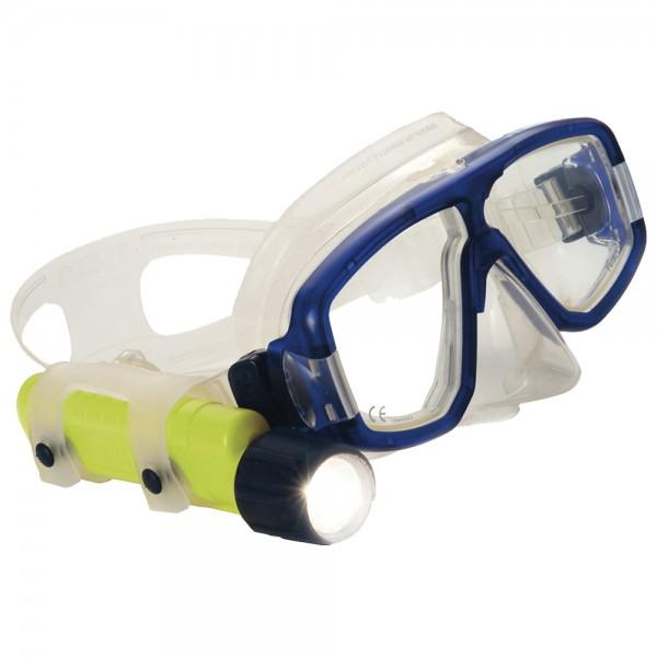 UK Lampenhalter für Taucherbrille, blau-transparent