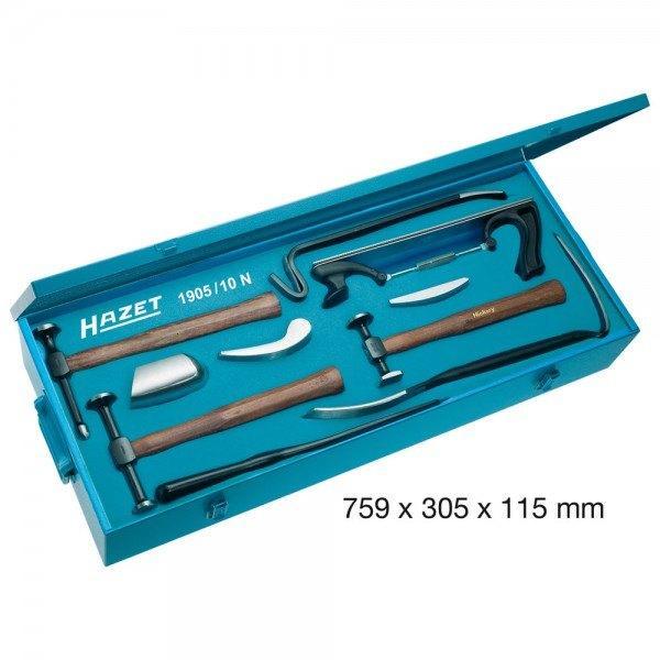Hazet Ausbeulwerkzeug-Satz 1905/10N - Anzahl Werkzeuge: 10