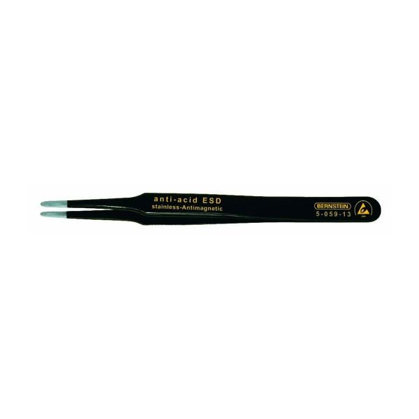 SMD-Pinzette, 120 mm, flache, 2 mm breite, abgerundete Spitzen, mit ESD-Beschichtung