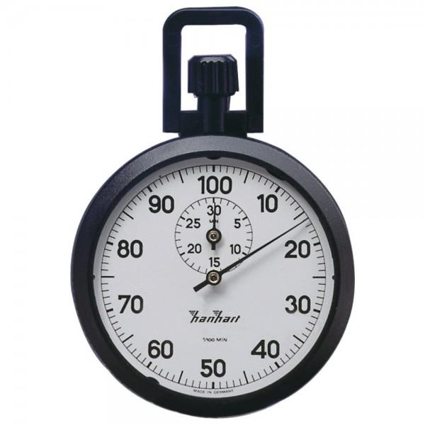 Hanhart Präzisions-Kronen-Stoppuhr 1/10 -Sekunden 15-Minuten